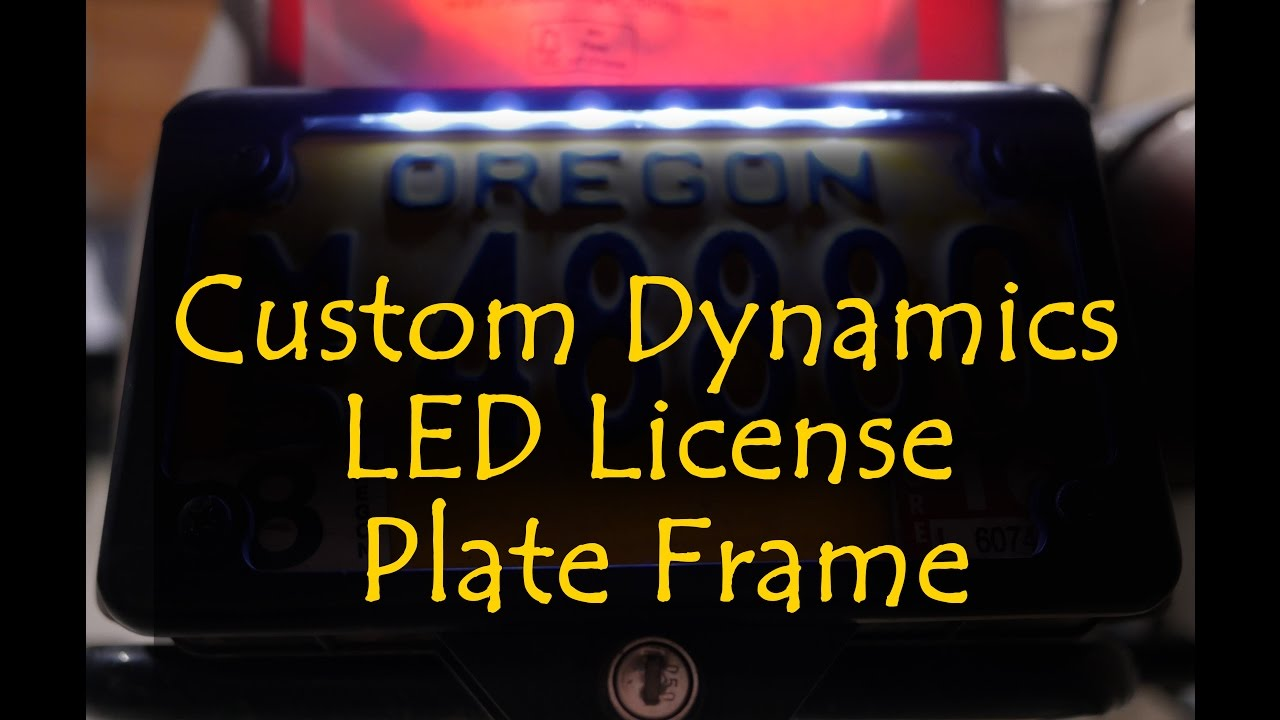 sc 1 st  YouTube & Custom Dynamics LED License Plate Frame - YouTube