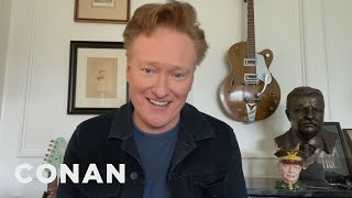 Conan's First Broadcast From Home - CONAN on TBS