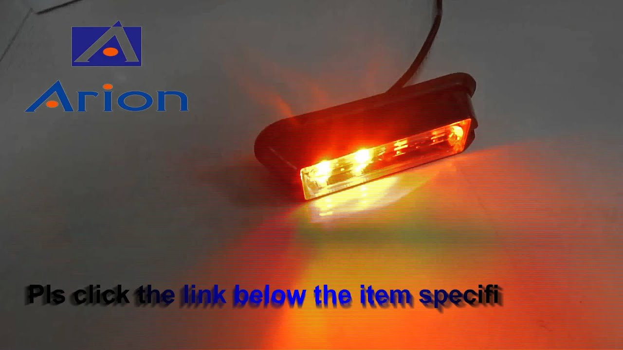 High Power 4 Led Waterproof Car Truck Emergency Strobe Flash Light Drl Amber White