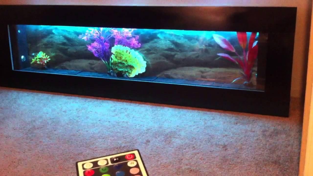"jersey home decor wall aquarium 60""x18"" black panoramic , c - youtube"