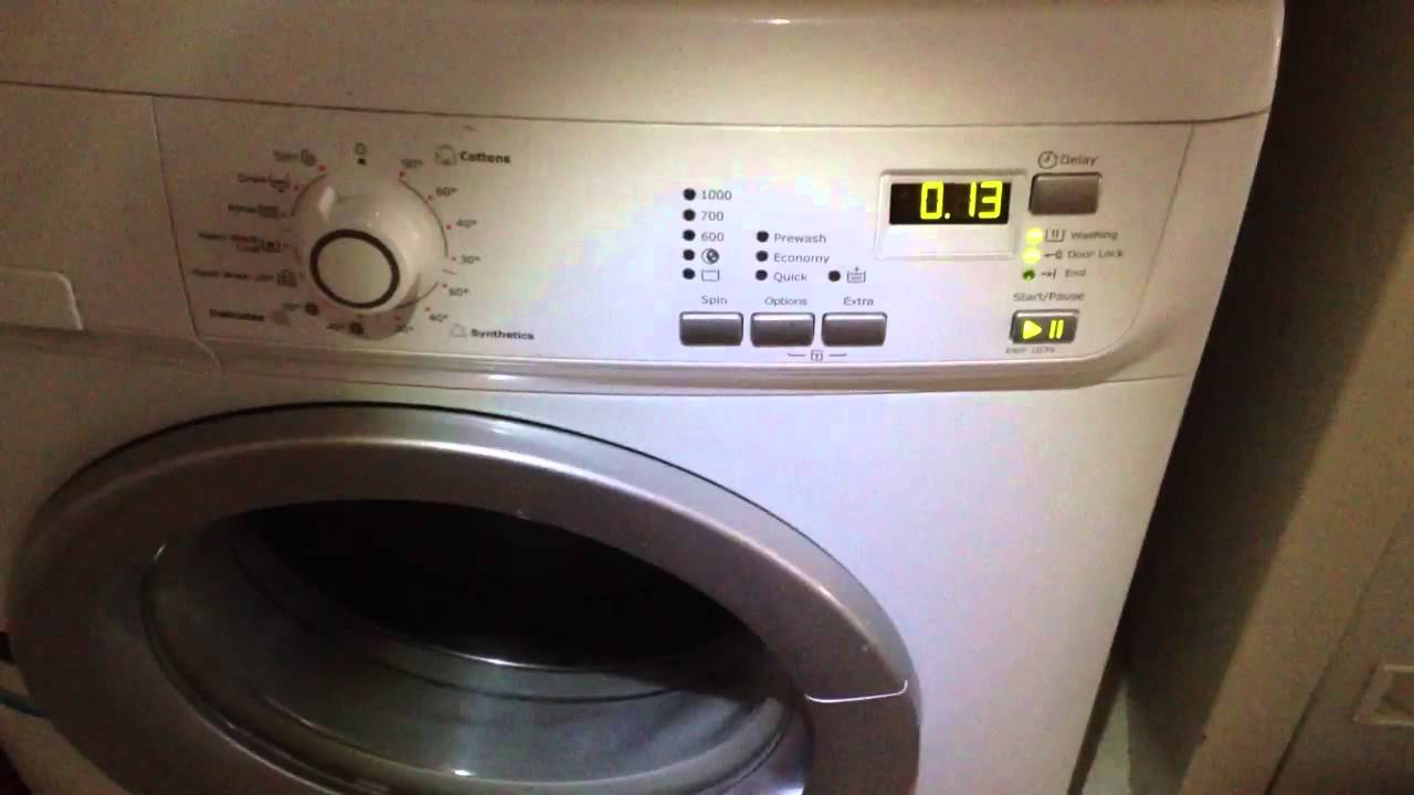 Electrolux Front Loader Washing Machine Door Lock Error