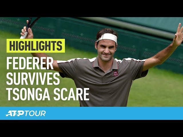 Federer Edges Tsonga in Halle | HIGHLIGHTS | ATP