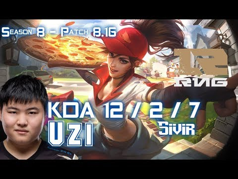 RNG Uzi SIVIR vs YASUO ADC - Patch 8.16 KR Ranked