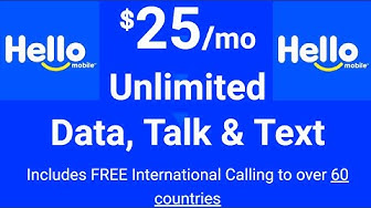 Hello Mobile - $25 for UNLIMITED Talk, Text, & Data?!