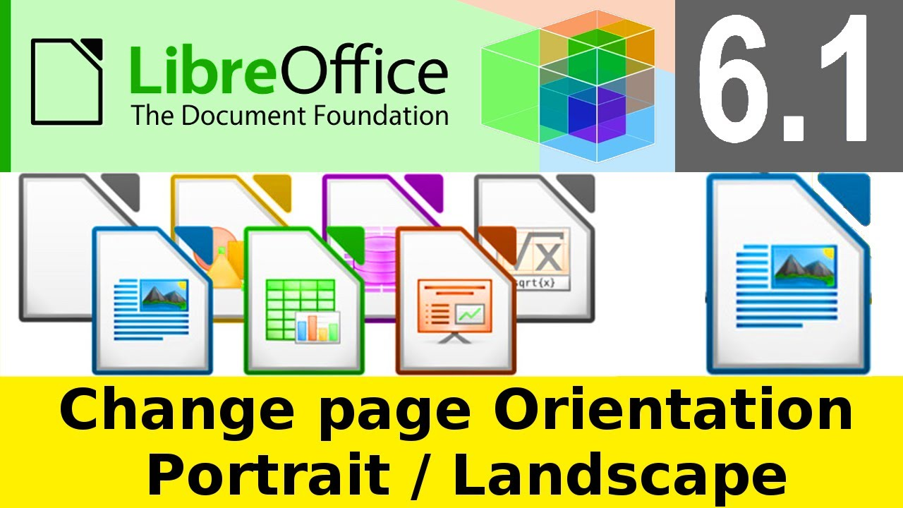 Libreoffice Writer 6 1 3 How To Change Page Orientation From Portrait To Landscape Paysage Odf