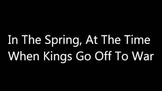 In The Spring, At The Time When Kings Go Off To War