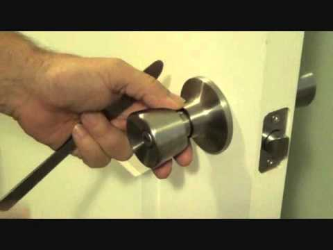 how to unlock a bedroom door without a key - youtube