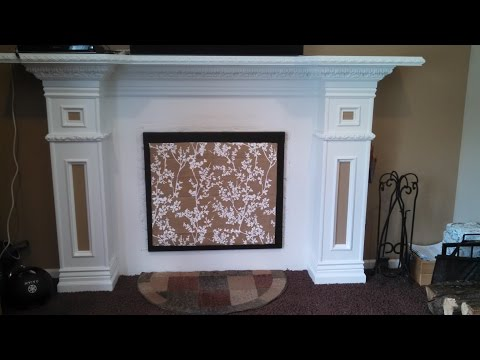 seal off unused fireplace - YouTube