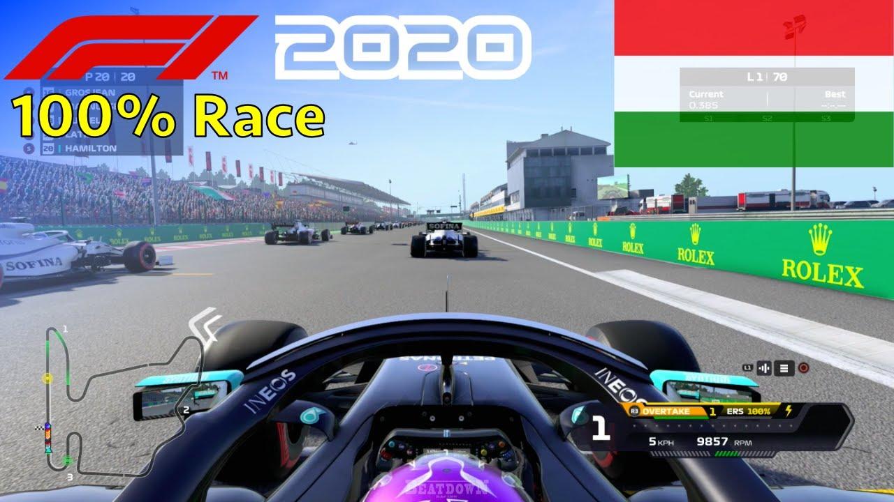 F1 2020 - Let's Make Hamilton 7x World Champion #13: 100% Race Hungary
