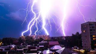 Стихия в Благовещенске ,город остался без электричества .
