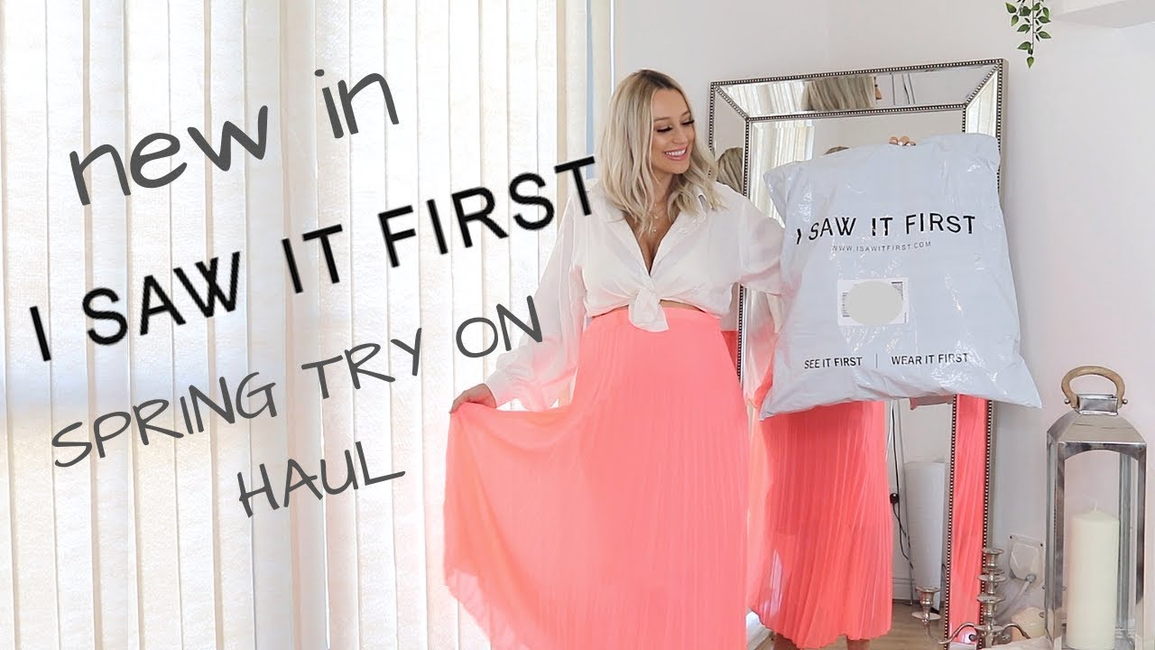 [VIDEO] - PRETTIEST I SAW IT FIRST SPRING OUTFITS ? TRY ON HAUL 2019 1