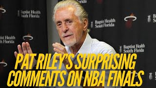 Pat Riley Surprises With Controversial Comments About Lakers & NBA Finals