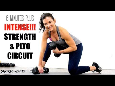INTENSE STRENGTH & PLYO WORKOUT CIRCUIT 6 MINUTES PLUS BONUS ROUND