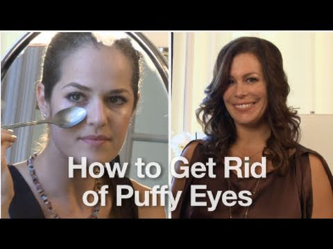 How to get rid of and reduce puffy eyes using simple for How to get rid of household items