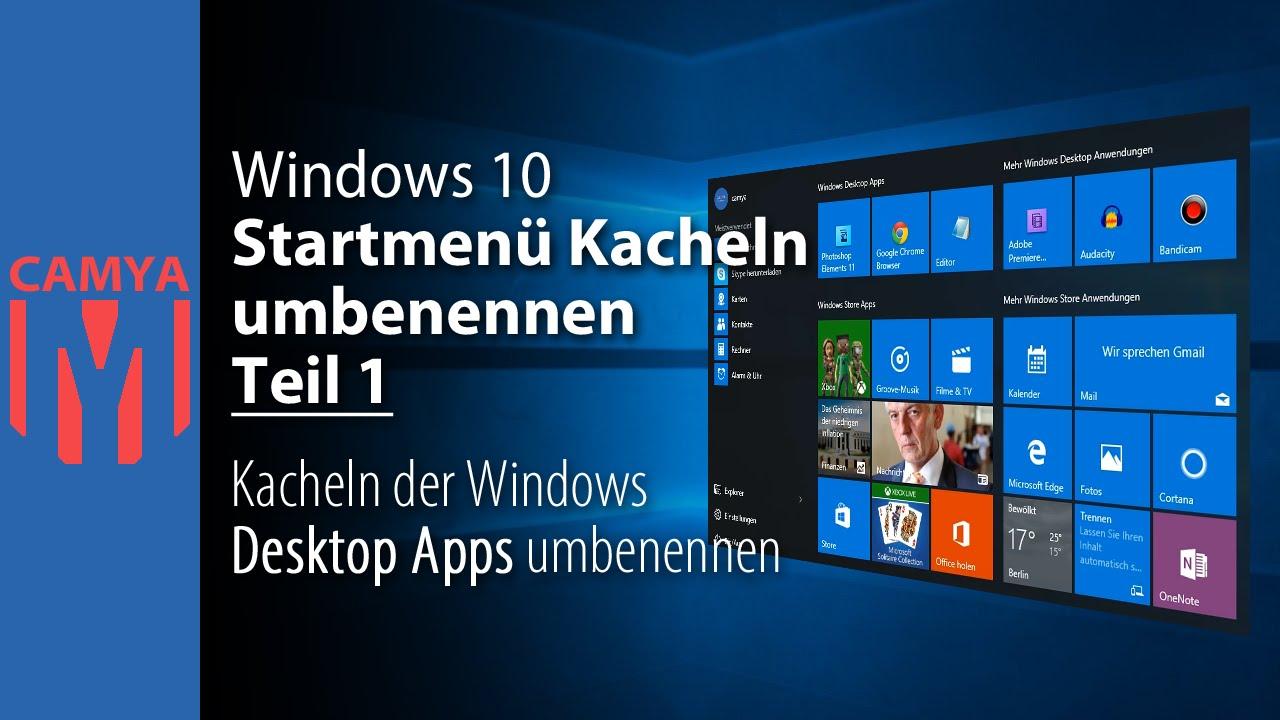 Windows 10 startmenü kacheln deaktivieren