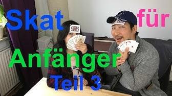 Skat lernen für Anfänger 3: Nullspiel,  Grandspiel, Sonderspiele, Überreizen & Co (dt. subs)