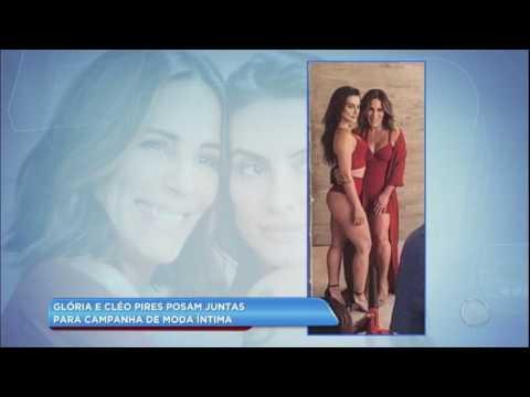 Hora da Venenosa: Glória e Cleo Pires fazem ensaio de lingerie