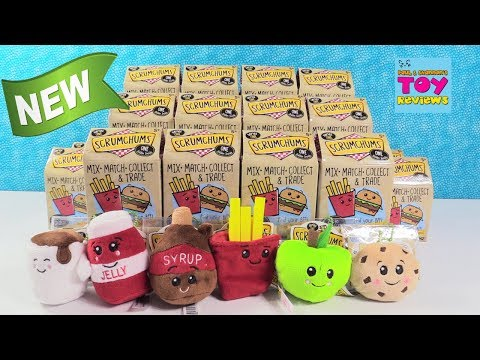 Scrumchums Foodie BFF Plush Blind Box Opening Series 1 Toy Review   PSToyReviews