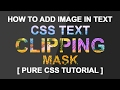 Clip Masking In CSS - Text Clipping Mask Tutorial - Plz SUBSCRIBE Us For Daily Videos