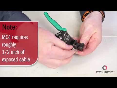 How to crimp and assemble a MC4 solar connector