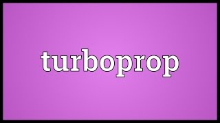 Turboprop Meaning