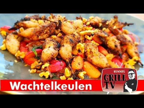 Wachteln grillen? Kleine Snacks : Wachtelkeulen vom Grill -- Rummel Grill TV #rummelgrilltv