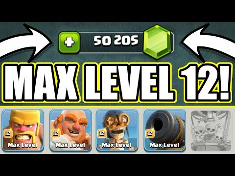 GEM TO MAX ALL TROOPS!! - Clash Of Clans - MAX LEVEL BOXER GIANTS vs BUILDERS HALL 6!!