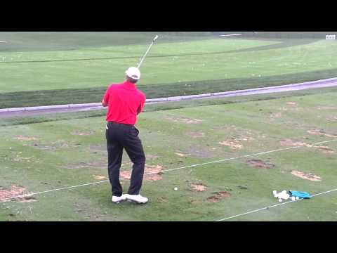 Steve Stricker practices for President Cup in Muirfield Golf Course