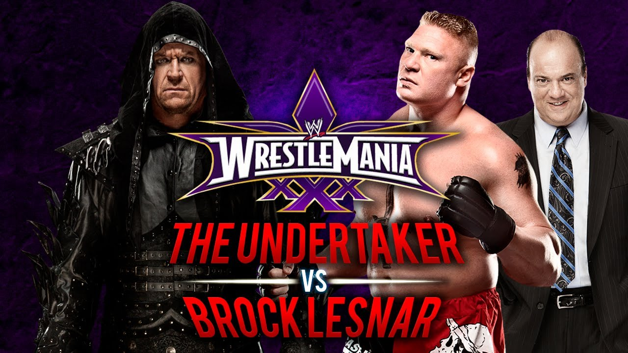 WWE Wrestlemania 30 - The Undertaker vs Brock Lesnar - WWE ...