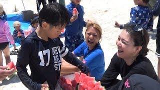 福島の子を沖縄の海へ 知花くららさん招待で7回目「げるまキャンプ」 知花くらら 検索動画 14