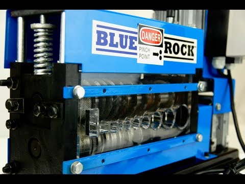 BLUEROCK Model MWS-808PMO Motorized Copper Wire Stripping Machine