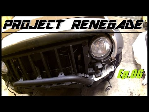 Jeep Liberty Bull Bar, Front Bumper & Grille Install, Project Renegade Ep.06