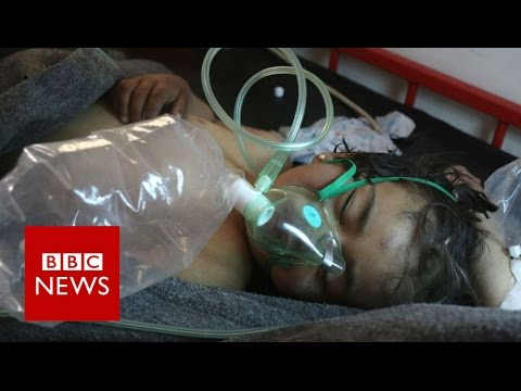 Russia and West clash over Syria gassing (NB Disturbing scenes) - BBC News