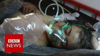 Russia and West clash over Syria gassing (NB Disturbing scenes)   BBC News