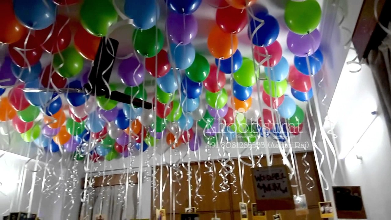 anniversary birthday surprise room decor khoobsurat event