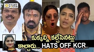 Telugu Celebrities Aggressive Response on Disha Incident