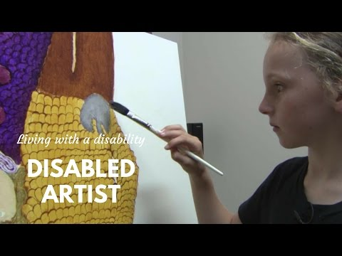 Talented Artist Living with a Disability