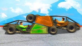 FLY WITH RAMP CARS CHALLENGE! (GTA 5 Funny Moments)