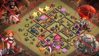 Town Hall 9 New War Base Anti First Hit  Proof + Replays TH9 Anti 3 Star Update 2016