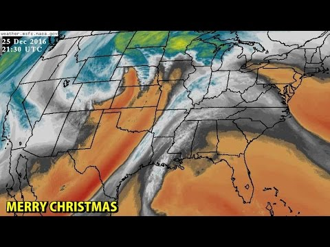 NIGHTLY WEATHER - Sunday 12/25/2016 - A few storms in Nebraska and Kansas