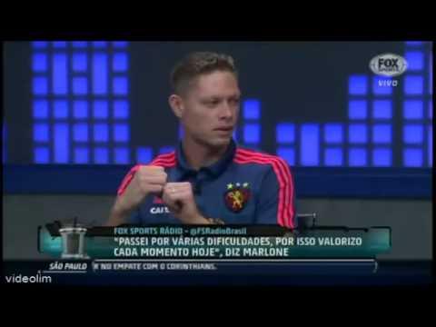 Marlone, do Sport Recife, no Fox sports rádio night 10.08.15 - COMPLETO