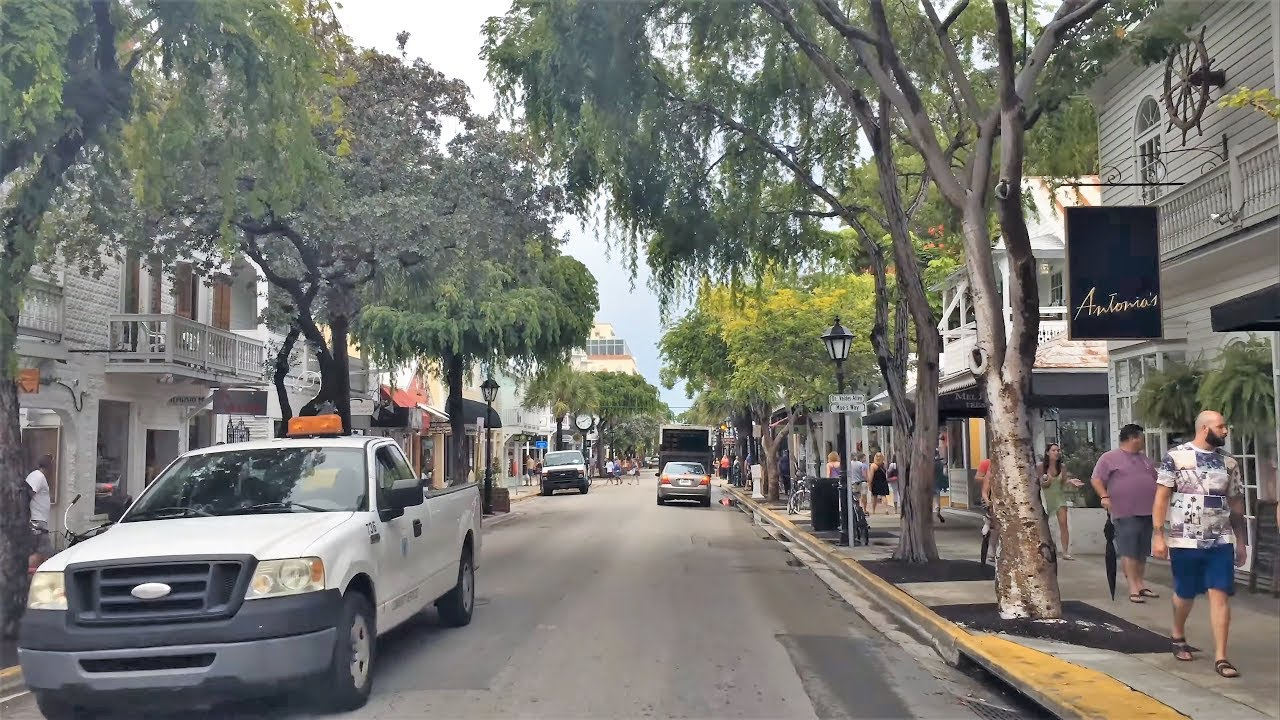 Driving Downtown 4K - Key West's Main Street - USA