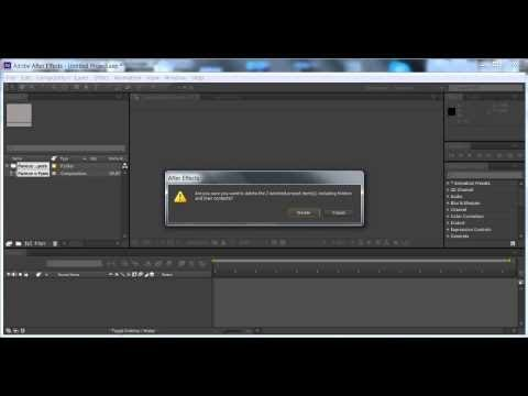 "Adobe After Effects Error: Can't import file ""(Filename).ffx"": unsupported filetype or extension"