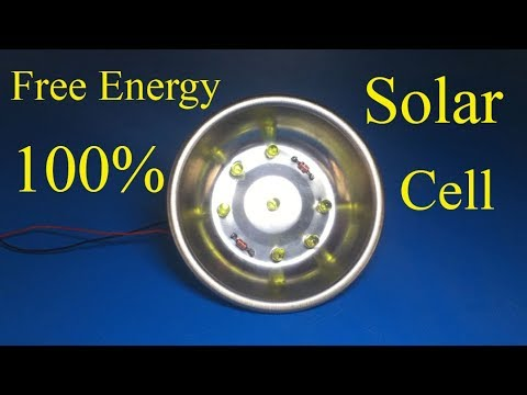 Free energy , How to make solar cell from LEDs and diode