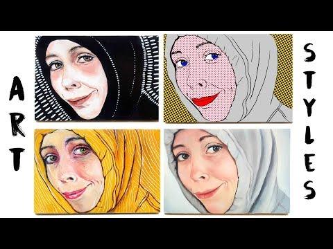 4 Art Styles, 1 Portrait | Painting Hoodie