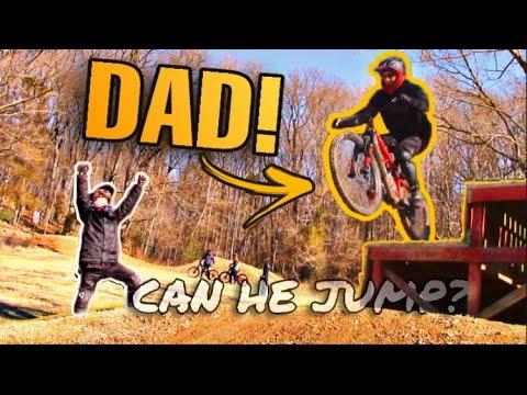 TEACHING MY DAD HOW TO RIDE MTB JUMPS! - Bentonville Arkansas