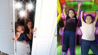 Sihirli Dolaptan Oyun Alanına Geçtik! Kids magic cupboard to playground - funny kids video