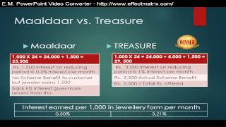 Treasure jewellery investment plan
