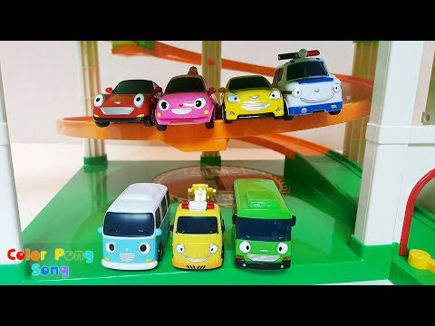 Thumbnail: Learn Colors with Tayo the Little Bus Cute Toy Cars ColorPongSong
