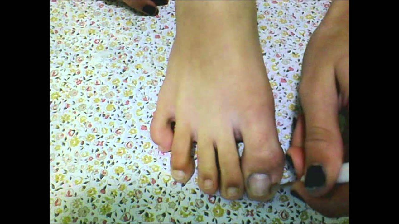 como arreglar las uñas de los pies - YouTube